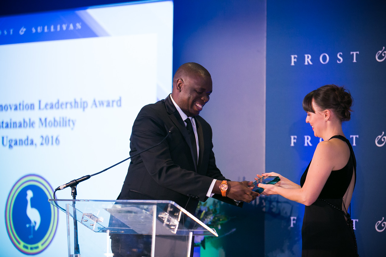 CEO Kiira Motors Corporation receives the Frost & Sullivan Award