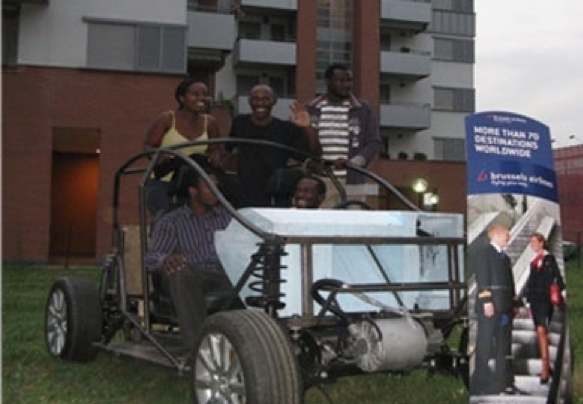 Part of the Makerere University VDS Team Poses for a Picture in the Vision 200