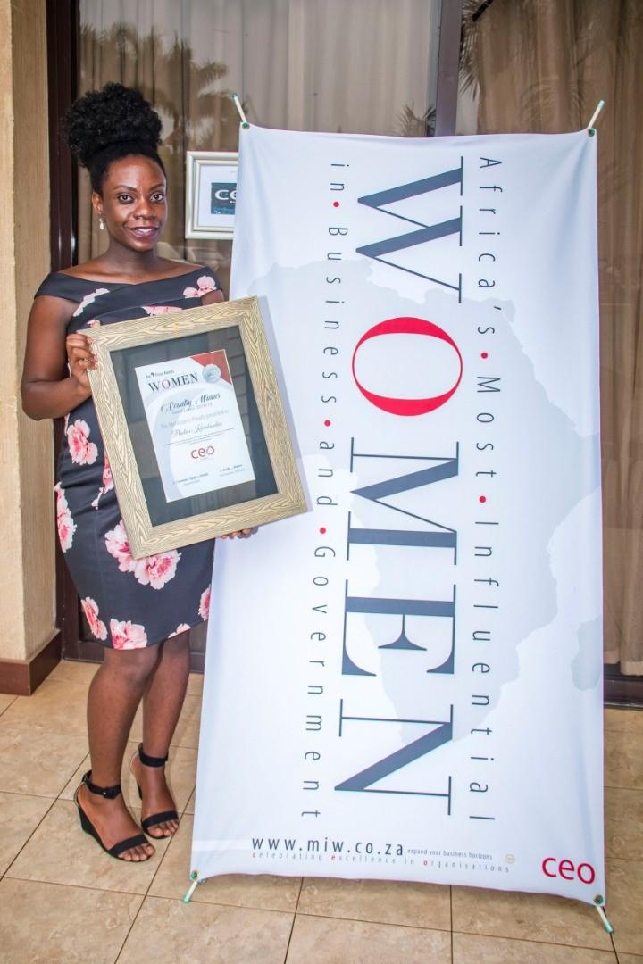 Ms. Korukundo Receives the Leadership Award